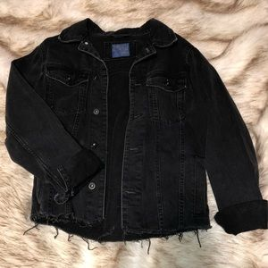 Zara Jackets & Coats - Zara Black Cropped Denim Jacket